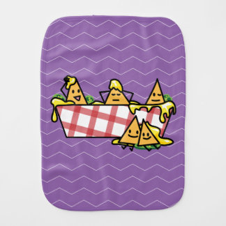 Nachos schmolzen KäseJalapenonacho-Tortilla-Chips Baby Spucktuch