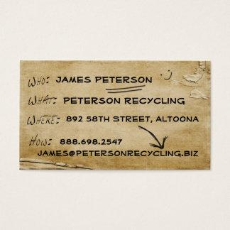 Nachrichten-Geschäfte gerecycelt Visitenkarte