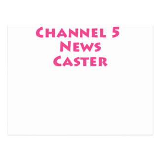 Nachrichten-Gießmaschine des Kanal-5 Postkarte