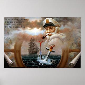 NACHRICHTEN u. Karten-Kapitän 2 oder Kapitän zur S Poster