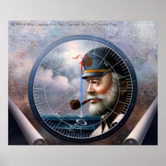 NACHRICHTEN u. Karten-Kapitän 6 oder Kapitän zur S Plakat