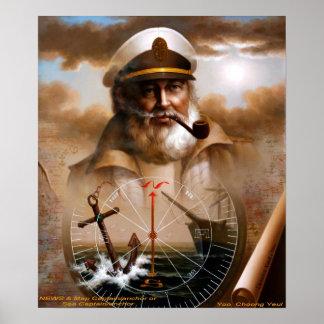 NACHRICHTEN u. Karten-Kapitän/Anker oder Kapitän z Plakat