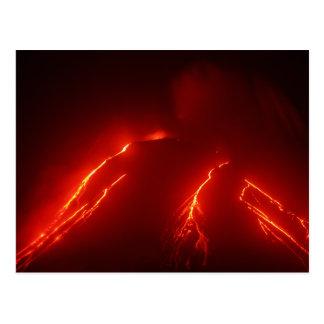 Nacht brechen Vulkan Klyuchevskaya Sopka aus Postkarte