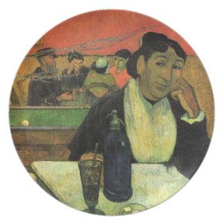 Nacht Café bei Arles durch Paul Gauguin-Platte Teller