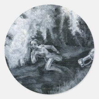 Nacht der lebenden Toten: Barbra Runder Aufkleber