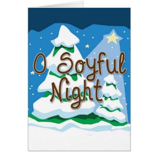 Nacht des Weihnachteno Soyful Karte