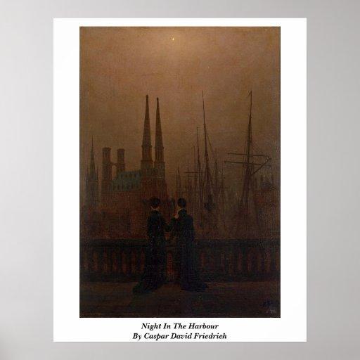 Nacht im Hafen durch Caspar David Friedrich Plakatdruck