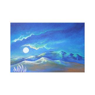 Nacht im Wüsten-Druck Leinwanddruck