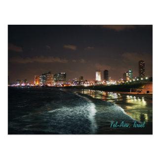Nacht in Tel Aviv, Israel Postkarte