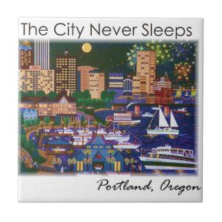 Nacht Portlands Oregon @ Keramikfliese