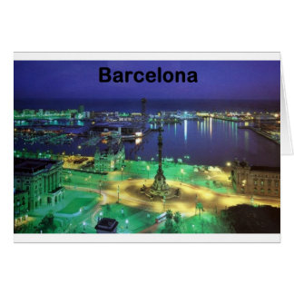 Nachtansicht Spaniens Barcelona (St.K) Karte