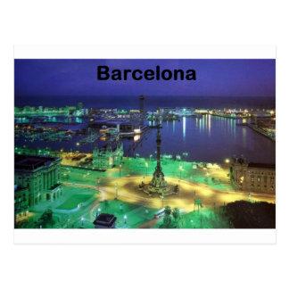 Nachtansicht Spaniens Barcelona (St.K) Postkarte