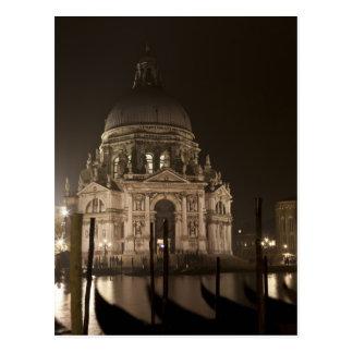 Nachtansicht über Wasser von San Giorgio Maggiore Postkarte