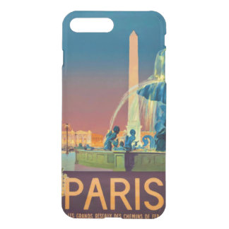 NachtbrunnenObelisk Paris Frankreich iPhone 8 Plus/7 Plus Hülle