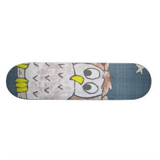 Nachteule im Mondschein Bedruckte Skateboarddecks