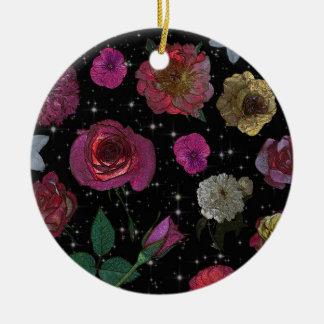 Nachtgarten-Kreis-Verzierung Keramik Ornament
