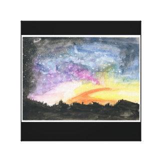 Nachthimmel Impressionistisches Gemälde Leinwanddruck