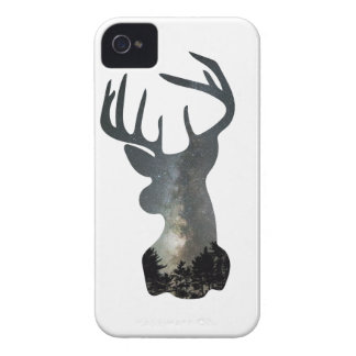 Nachthimmel-Rotwild-Silhouette iPhone 4 Cover