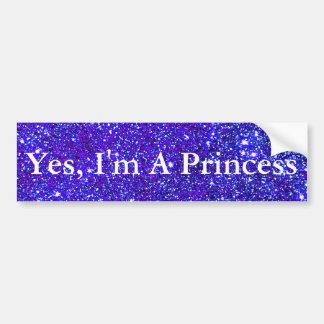 Nachthimmel Starfield Stern Prinzessin-Sparkly Autoaufkleber