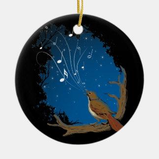 Nachtigall-Lied Keramik Ornament
