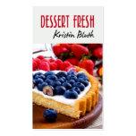 Nachtisch frisch, Käsekuchen, Gebäck-Koch, Bäcker Visitenkartenvorlagen