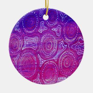 Nachtlager-Sammlung #1 Rundes Keramik Ornament