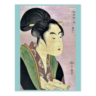Nächtliche Liebe durch Kitagawa, Utamaro Ukiyoe Postkarte