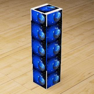 Nächtlicher Himmel verziert Blau/Schwarzes Weinbox