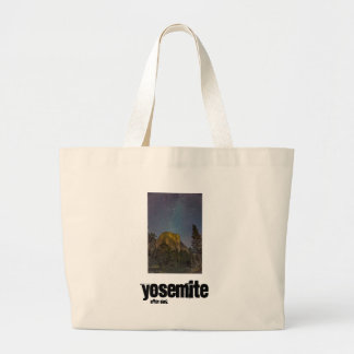 Nächtlicher Himmel Yosemite-Tal-EL Capitan Jumbo Stoffbeutel