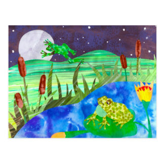 Nachtlied-Frösche Postkarte