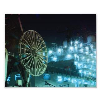 Nachts im Hamburger Hafen Kunst Photo