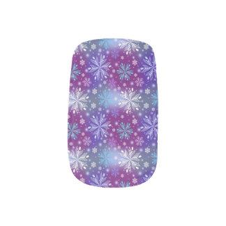 Nachtschnee-Fall-Nagel-Verpackungen Minx Nagelkunst
