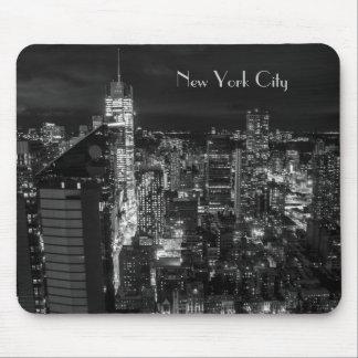 NachtSkyline New York City Manhattan Mauspads
