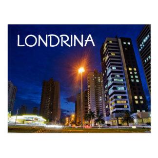Nachtstadt Londrina Postkarte