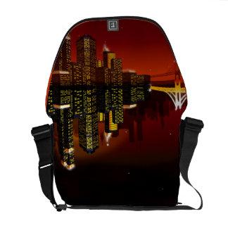Nachtstädtische Mädchen-Bote-Tasche Kurier Taschen