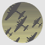 Nachtüberfall Runde Sticker