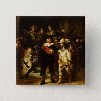 Nachtwache-barocke Malerei Rembrandts Nightwatch Quadratischer Button 5,1 Cm