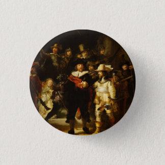 Nachtwache-barocke Malerei Rembrandts Nightwatch Runder Button 3,2 Cm