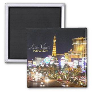 Nachtzeit-Andenken-Kühlschrankmagnete Las Vegas Ne Quadratischer Magnet