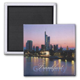 Nachtzeit-Foto-Andenken-Magneten Frankfort Quadratischer Magnet
