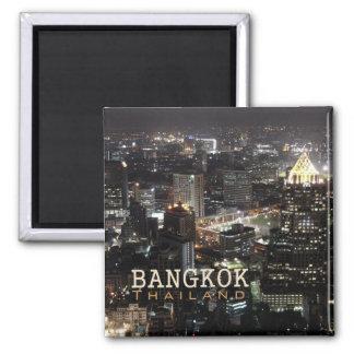 Nachtzeit-Reise-Andenken-Magnet Bangkoks Thailand Quadratischer Magnet