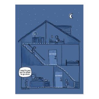 Nachtzeitparenting-Postkarte Postkarte