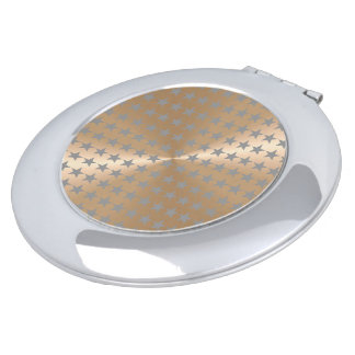 Nacre-und Silber-Stern-einzigartiges Muster Taschenspiegel