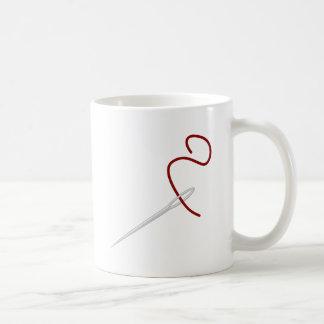 Nadel Faden needle thread Kaffeetasse
