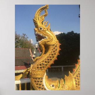 Naga bei Doi Suket, Chiang Mai, Thailand Poster