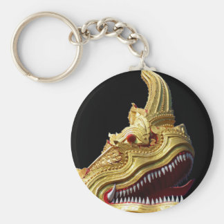 Naga-Kopf auf Schwarzem Schlüsselanhänger