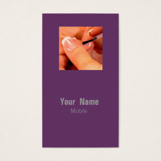 Nagel-Künstler Visitenkarte