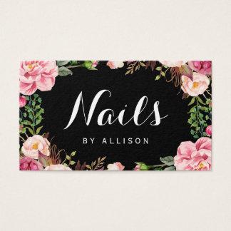 Nagel-Salon-Nagel-Techniker-romantische Visitenkarten