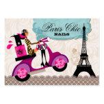 Nagel-Salon-Polnisch-Roller-Paris-Eiffelturm Visitenkarten Vorlagen