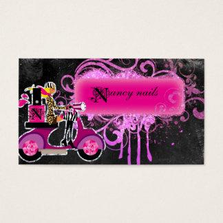 Nagel-Salon-Roller-Mädchen-Glitzer-Polnisch-Wirbel Visitenkarte